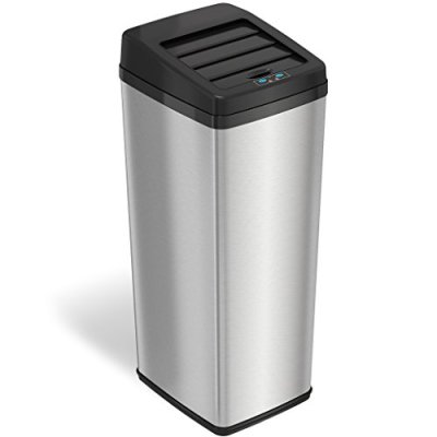 iTouchless 14 Gallon Sliding Lid Touchless Sensor Trash