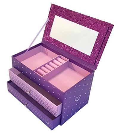Jewelry Box for Girls - Pink and Purple Sparkles