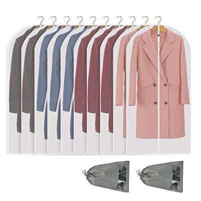 Perber Hanging Garment Bag Lightweight Clear Full Zipper