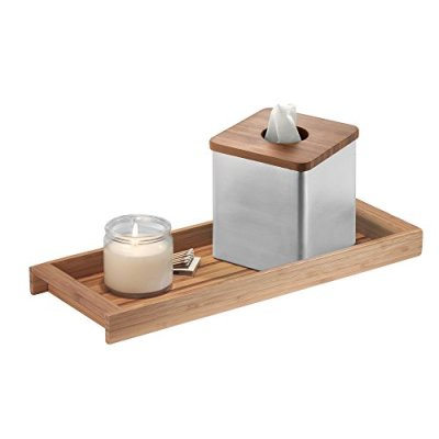 Tank Top Storage Tray Wooden Organizer for Tissues