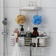 Shower Caddy and Soap Dish Wall Mounted Bathroom Shelf