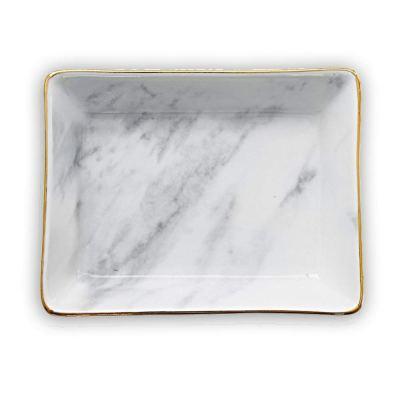 Marble Ceramic Jewelry Tray Ring Dish Holder