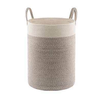 Hlryudo Large Cotton Rope Basket, Baby Laundry Basket