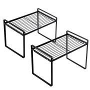 Shantton 2 Pack Kitchen Cabinet Shelf Counter Organizer Rack