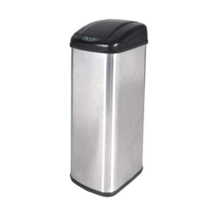 BestOffice 13 Gallon Touch-Free Sensor Automatic Stainless-Steel