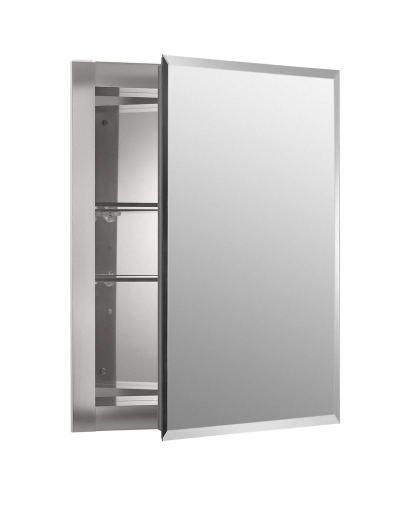16 Inch X 20 Inch Aluminum Bathroom Medicine Cabinet