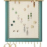 Organizer Frame Wall Mounted Jewelry Holder Vintage