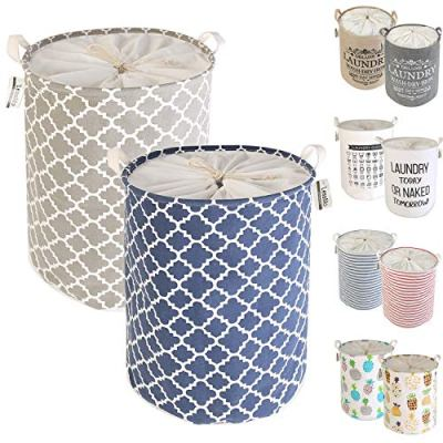 LessMo 2PCS Drawstring Laundry Basket Storage Sorter