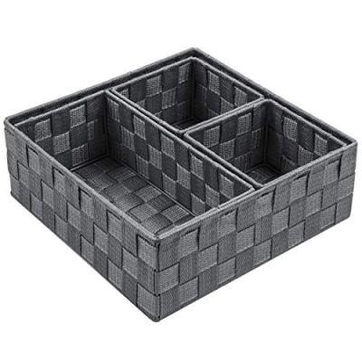 Posprica Woven Storage Box Cube Basket Bin Container