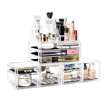 Jewelry and Cosmetic Storage Display Boxes with 9 Drawers