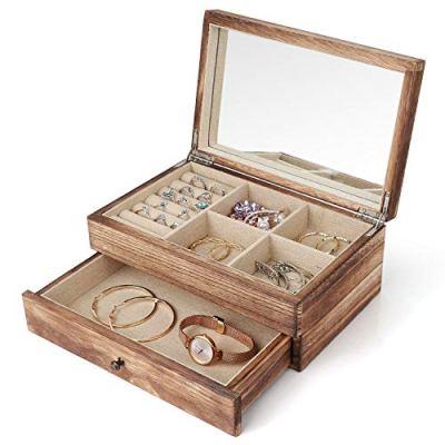 Minggoo Jewelry Organizer Box Two-Layer