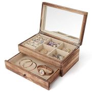 Minggoo Jewelry Organizer Box Two-Layer