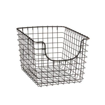 Diversified Scoop Wire Basket Vintage-Inspired Steel Storage
