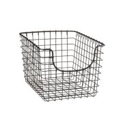 Diversified Scoop Wire Basket Vintage-Inspired Steel Storage