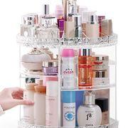 360-Degree Acrylic Cosmetic Storage Cosmetic Organizer