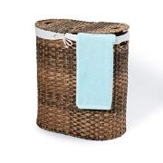 Seville Classics Handwoven Oval Double Lidded
