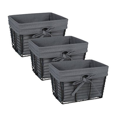 DII Farmhouse Vintage Storage Baskets with Liner