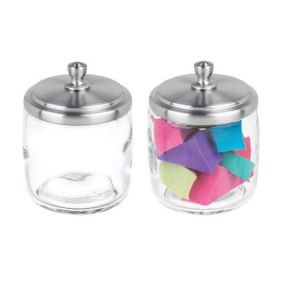 Glass Storage Organizer Canister Apothecary Jar