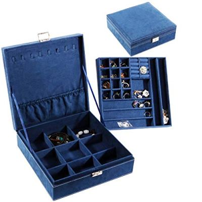 Jewelry Box with lock necklace or jewelry holder organizer