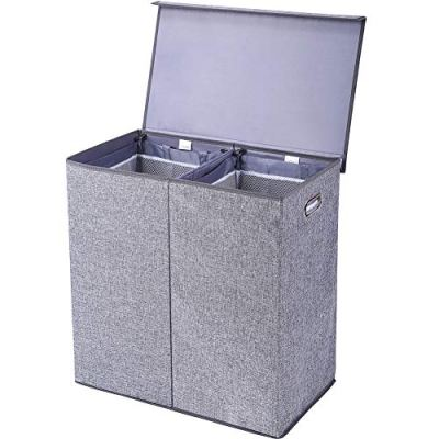 Laundry Sorter with Removable Liners and Magnetic Lid