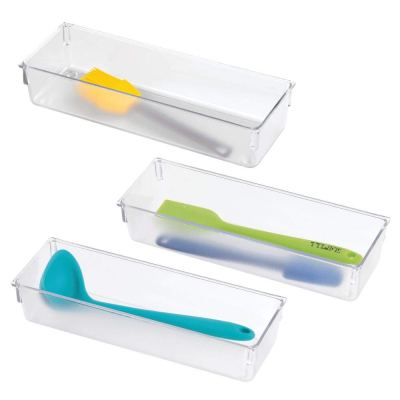 Plastic Kitchen Cabinet Drawer Organizer Tray