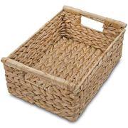 VATIMA Natural Water Hyacinth Storage Basket with Handle
