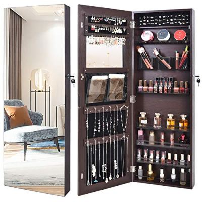 Full mirror jewelry organizer Fashion Transparent box