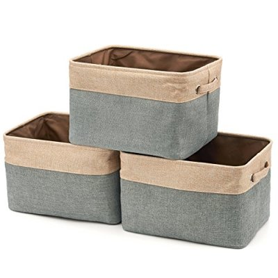 Fabric Tweed Storage Organizer Cube Set