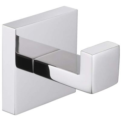 Bath Towel Hook, Angle Simple Solid Metal Bathroom