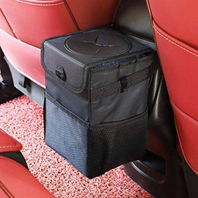 Ryhpez Car Trash Can with Lid - Storage Pockets