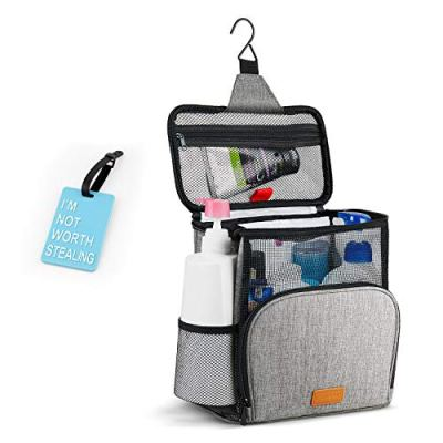 Hiverst Hanging Toiletry Bag, Shower Caddy Tote Bag