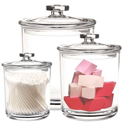 15-Ounce Clear Plastic Apothecary Jars Set of 3