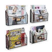 Magazine Rack File Organizer and Mail Holder for Wall