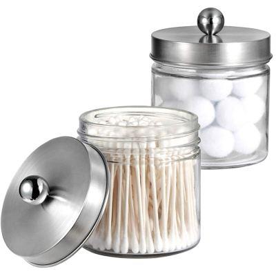 Bathroom Vanity Glass Storage Organizer Holder Canister Apothecary Jars