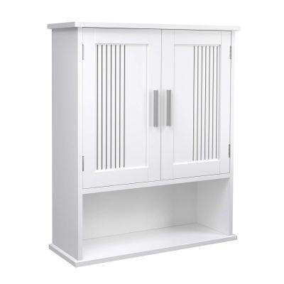 VASAGLE Wooden Medicine Cupboard with Adjustable Shelf Storage Cabinet