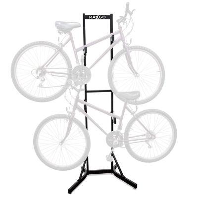 RaxGo Bike Storage Rack, 2 Bicycle Garage Floor Stand