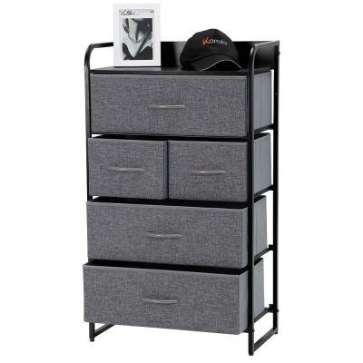 Kamiler 5-Drawer Dresser, 4-Tier Storage Organizer