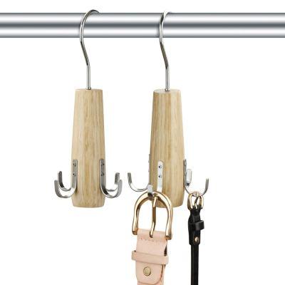HuaQi Belt Hanger Belt Racks Wooden Closet Accessories
