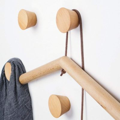 HomeDo Wood Wall Hooks Hat Rack