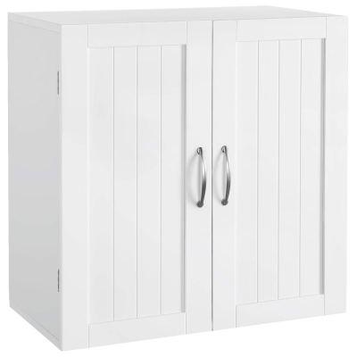YAHEETECH Bathroom Medicine Cabinet 2 Door Wall Mounted