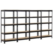 Topeakmart 4 Pack 5 Tier Shelving Unit and Storage Shelves