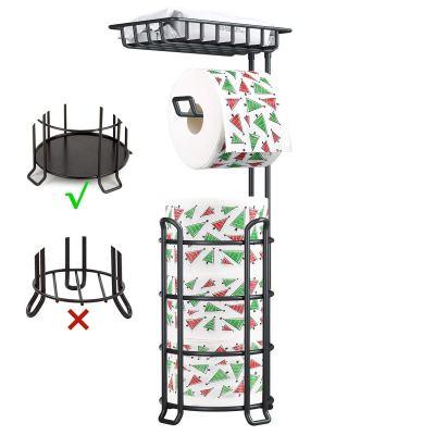 Toilet Paper Holder Stand Upgrade Free Standing Bathroom Toilet Tissue Holders