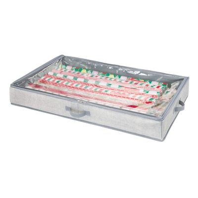 Fabric Gift Wrap Storage Organizer Holder Box