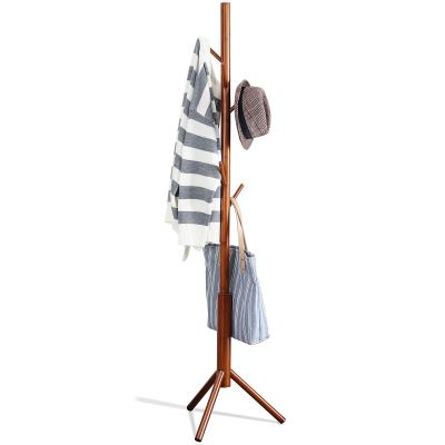 Bamboo Free Standing Coat Rack Stand