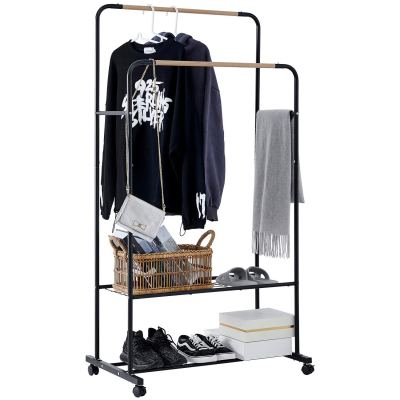 YOUDENOVA Rolling Clothing Rack on Wheels