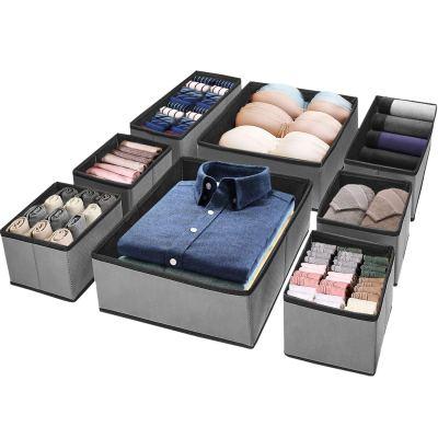 Puricon (8 Set) Clothes Organizers Dresser Drawer Organization