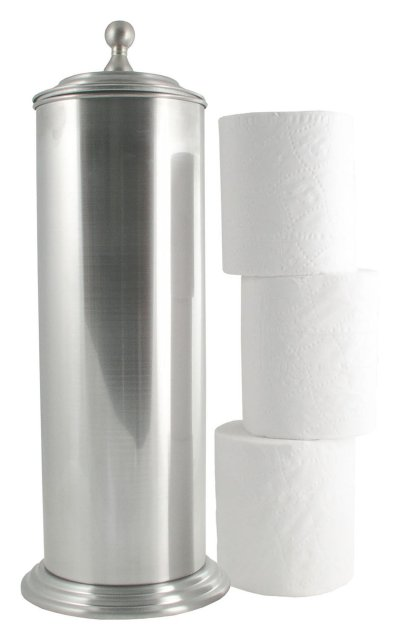 LDR Industries Free Standing Toilet Paper Holder Canister