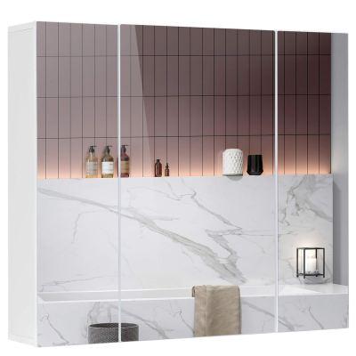 Bathroom Mirror Cabinet with 3-Adjustable Shelves
