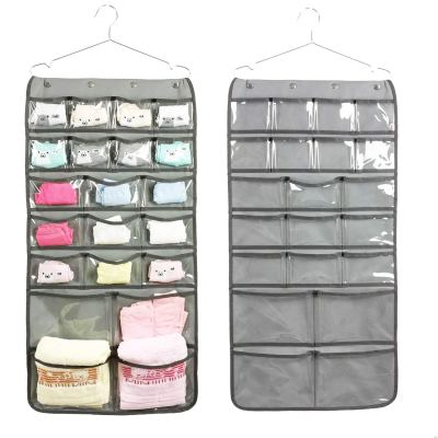 NIMES Hanging Closet Underwear Sock Bra Organizer Dual-Sided Accessories