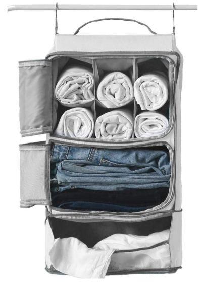 Hanging Portable Luggage Suitcase Closet Shelving Organizer